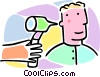 Vector Clipart graphic  of a person having an ear exam