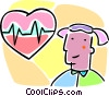 Vector Clipart graphic  of a heart with a ECG chart
