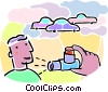 Vector Clip Art graphic  of a inhaler