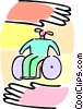 girl in a wheelchair Vector Clipart picture