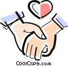 couple holding hands Vector Clip Art picture