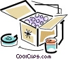 Vector Clipart picture  of a shipping boxes
