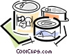 canned goods Vector Clipart illustration