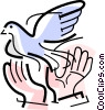 Vector Clipart image  of a dove