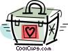 Vector Clipart image  of a organ transplant container