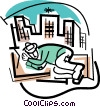 homeless Vector Clipart image
