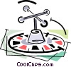 Vector Clip Art picture  of a roulette wheel