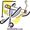 Vector Clip Art picture  of a quitting smoking