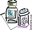 prescription drugs Vector Clipart illustration