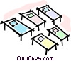 Vector Clipart graphic  of a cots/beds