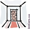 Vector Clipart illustration  of a brick door