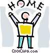home Vector Clipart illustration
