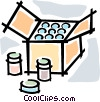 box of goods Vector Clipart illustration