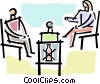 talk show Vector Clipart illustration