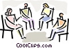 Vector Clipart picture  of a group discussion