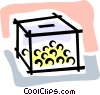 container full of gold coins Vector Clipart illustration