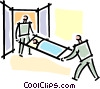 person on a stretcher Vector Clipart illustration
