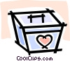 Vector Clip Art image  of a organ transplant container