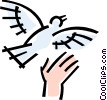 Vector Clipart illustration  of a dove