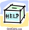 help box Vector Clipart graphic