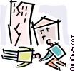 earthquake victims Vector Clipart image