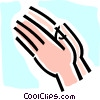 praying hands Vector Clipart illustration