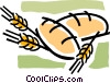 bread and grain Vector Clipart image