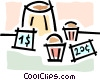 Vector Clipart picture  of a bake sale