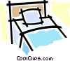 Vector Clip Art graphic  of a bed