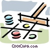 Vector Clip Art image  of a gambling chips