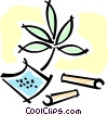 Vector Clip Art image  of a marijuana