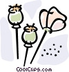 Vector Clip Art graphic  of a opium