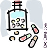 pills bottle of pills Vector Clip Art picture