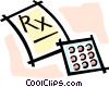 Vector Clipart picture  of a prescription drugs