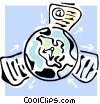 Vector Clipart picture  of a internet concept
