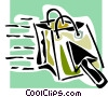Vector Clipart image  of a e-commerce