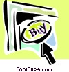 Vector Clip Art graphic  of a e-commerce