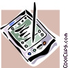 Vector Clip Art picture  of a PDA