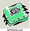 computer chip Vector Clipart illustration