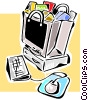 Vector Clipart illustration  of a e-commerce/online transactions