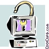 Vector Clipart graphic  of a internet/computer security