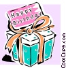 Vector Clip Art picture  of a birthday present