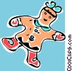 Vector Clipart illustration  of a gingerbread cookie