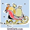 Santa's sleigh Vector Clipart illustration