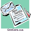 Christmas list Vector Clipart graphic