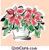 Vector Clip Art image  of a poinsettia