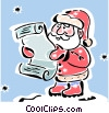 Vector Clip Art graphic  of a Santa with his list