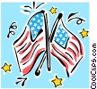 Vector Clip Art graphic  of an American flags