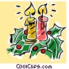 Vector Clipart image  of a Christmas candles