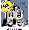 Vector Clipart picture  of a haunted house